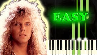EUROPE   THE FINAL COUNTDOWN   Easy Piano Tutorial