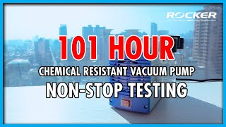ROCKER 極限實驗室: Chemker 系列耐腐蝕真空幫浦挑戰101小時不停機