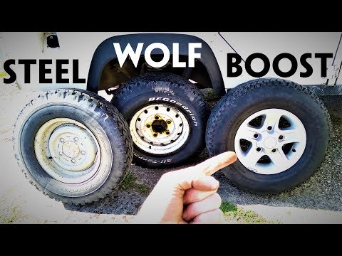 The 3 standard Defender wheels - Steel, Wolf and Boost - plus their WEIGHTS!