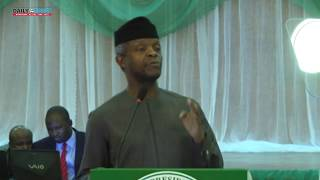 We are fortunate to have Buhari as president- Osinbajo