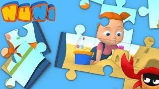 NuNi Puzzle | sand castle puzzle for kids| puzzle videos
