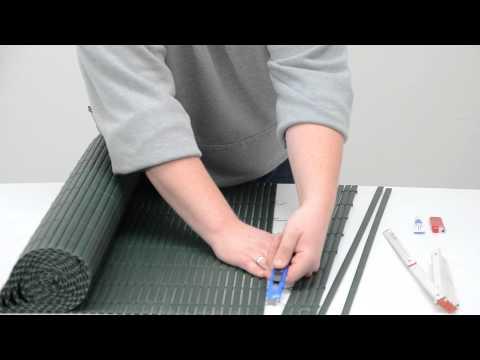 PVC Sichtschutzmatte Balkon Windschutz Sichtschutz Gartenzaun Anleitung