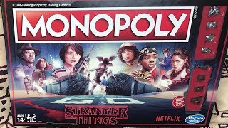 Monopoly: Stranger Things Edition Board Game Unboxing
