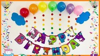 Rainbow Theme Birthday Party Decoration Ideas/ Rainbow Theme Kids Birthday Party Decoration.