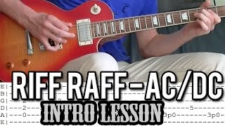 AC/DC - Riff Raff Main Riff Guitar Lesson (With Tabs)