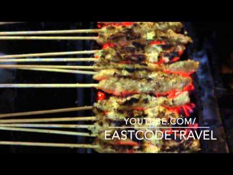 Video sate kelapa surabaya  grilled coconut satay
