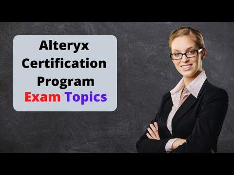 Topics For Alteryx Designer Core Certification - YouTube