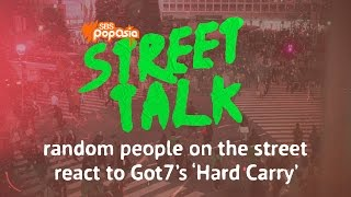 Random people on the street react to Got7