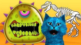 ХИЩНЫЙ СЛИЗЕНЬ СЪЕЛ ДИНОЗАВРА игра про голодную слизь КОТЁНОК ЛАЙК Mutant Blobs Attack