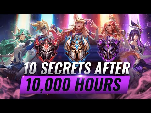 10 INCREDIBLE Secrets I Learned After 10,000 Hours of League of Legends - Season 10