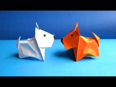 Pretty Paper DOG Origami For Kids Tutorial DIY