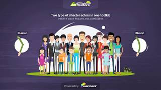 How to use Characters Animation template in AinTrailers v2   Explainer Video Tutorial