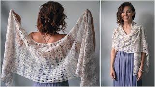 SO EASY - Beginner Summer Lace Shawl W/ A Unique Technique!