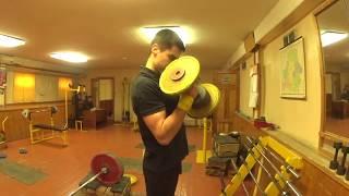 Челлендж! Поднятия на бицепс гантелей весом 22 кг(55 раз) на максимальное количество раз.
