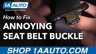 How to Stop Annoying Seat Belt Buckle Falling Down with Seat Belt Buckle Stopper Buttons from 1AAuto