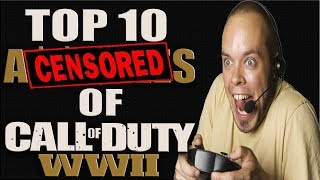 THE TOP 10 DILL HOLES OF CALL OF DUTY WW2! COD WW2 TOP 10 COUNTDOWN