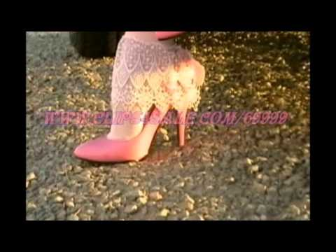 Pink patent pumps and amazing frilly socks