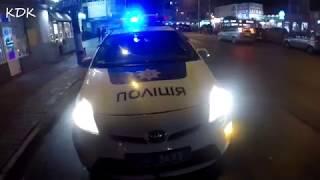 Убегающие полицейские Кропивницкого! Треснутая лобовуха!