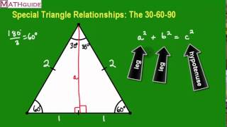 Deriving The 30-60-90 Special Right Triangle