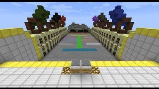 """Blocks vs. Zombies"": Minecraft Tower Defense Mini-Game -- SethBling"