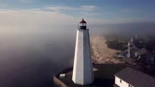 Old Saybrook, CT drone flight - Lynde Point and Breakwater Lighthouses - DJI Mavic drone/Litchi app