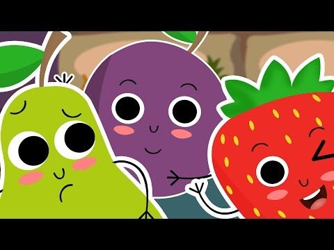 Ten In The Bed | Nursery Rhyme With Lyrics 🍌🍎🍓🍋 | 10 In