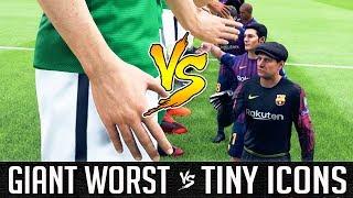 Giant Worst Team VS Tiny Icons - FIFA 19 Experiment