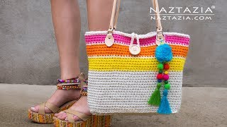 How To Crochet Sweet Simple Tote Bag By Naztazia