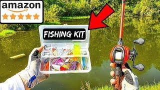 Fishing W/ Amazons HIGHEST RATED Fishing Kit (Surprising!)