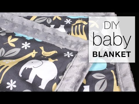 Easy DIY Baby Blanket Sewing Tutorial