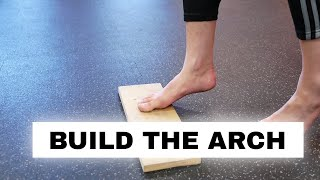 Fix flat feet and fallen arches (foot strength exercise) - the Arch Raise exercise for flat feet