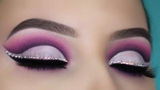 Diamond Purple Cut Crease Makeup Tutorial