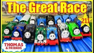 THOMAS AND FRIENDS The Great Race #211 Trackmaster Thomas Train|THOMAS & FRIENDS TOYS KIDS