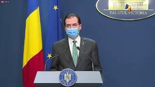 LIVE Declarații de presă susținute de premierul Ludovic Orban
