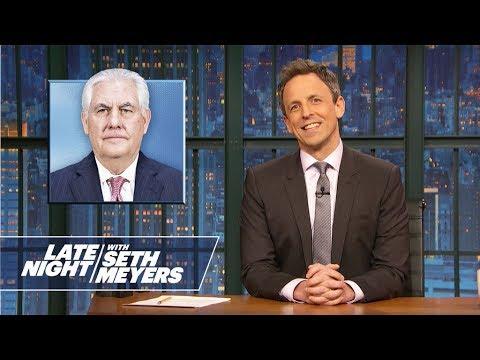 Trump Fires Rex Tillerson: Couple Things