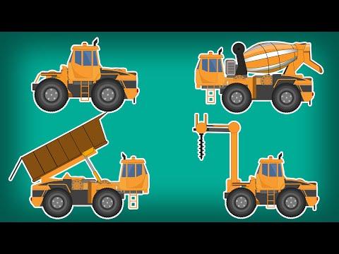 Transformer   Drilling Machine   Dumpster   Cement Mixer   Kids Video