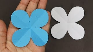 How to Make Easy 🌸 4 Petal Paper Flowers 🌸 - DIY | A Very Simple Paper Flower for Beginners Making