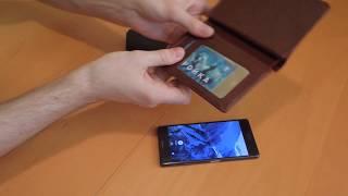 Экранирующий кожаное портмоне для водительских документов, паспорта и кредиток - видео 1