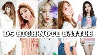 Who Belts The Best D5? K-Pop Female Vocalists