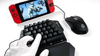 Mouse & Keyboard on NINTENDO SWITCH... Unboxing GameSir VX + Fortnite Battle Royale