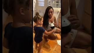 2 Year Old Does Mommy's Hair 🥰   FamousTubeFamily #shorts
