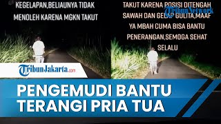 Viral Video Pengemudi Bantu Terangi Pria Tua yang Kayuh Sepeda Malam-malam, Warganet Beri Pujian
