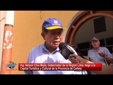 NELSON CHUI EVADE PREGUNTA SOBRE PROYECTOS PARA EL DISTRITO DE LUNAHUANA