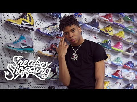 NLE Choppa Goes Sneaker Shopping With Complex