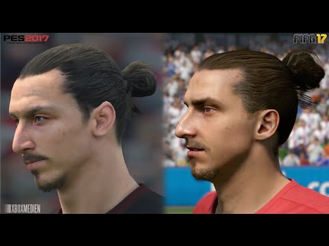 FIFA 17 vs PES 17 Manchester United ALL Player Faces Comparison (Xbox One, PS4, PC)