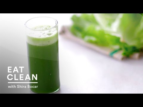 Video Cleansing Pineapple-Spinach Juice - Eat Clean with Shira Bocar