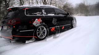 preview picture of video 'Snow Drift Wetzlar 2014 VW Passat R36 HD'
