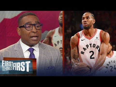 Kawhi, Raptors take Game 3 in double OT over Bucks - Nick & Cris react   NBA   FIRST THINGS FIRST