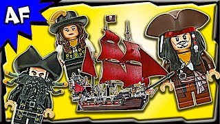 Lego Pirates of the Caribbean QUEEN ANNE's Revenge 4195 Stop Motion Build Review
