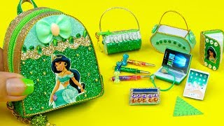 DIY Miniature Jasmine School Supplies ~ Backpack, Glitter Pen, Pencil Case